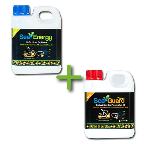 SeaEnergy & SeaGuard Concentrate Bundle - 2 x 1 Litre bottles